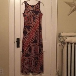 Chaps Sleeveless Knit Maxi Dress, L